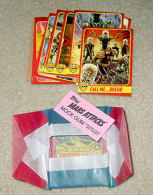 2015 Topps MARS ATTACKS Occupation Kickstarter Judge Dredd 18-card set w wrapper