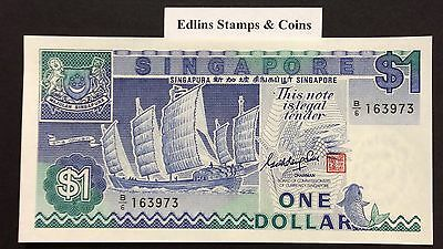1987 $1 Singapore Banknote - Uncirculated - Pick 18A - B/6 163973