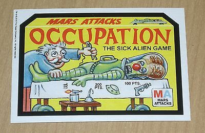 Topps Mars Attacks Occupation Wacky Attacky Packages Old School 3-card promo set