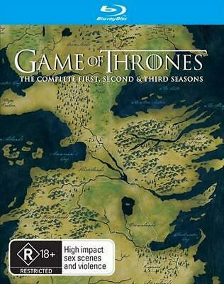 Game Of Thrones : Season 1-3 Boxset - Blu Ray Region B Free Shipping!
