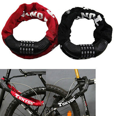 Bicycle Bike Motorcycle Anti-Theft 5 Digit Combination Password Chain Lock New