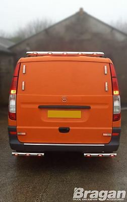 2004 - 2014 Mercedes Vito / Viano Stainless Steel Rear Roof Light Bar + LEDS