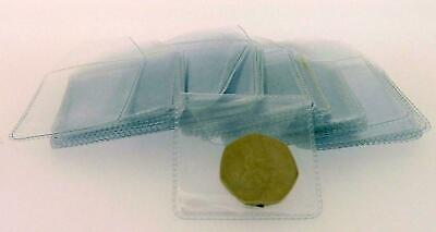 100 2 x 2 clear plastic coin wallets storage envelopes