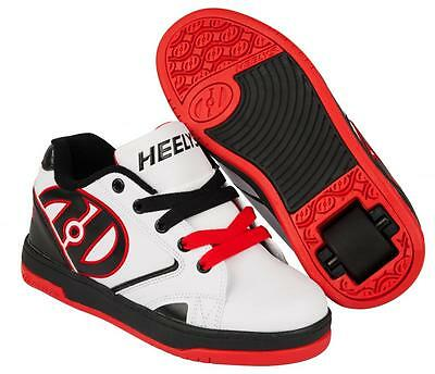 Heelys Propel 2.0 White Black Red Girls Boys Roller Skate Shoes Trainers 770599