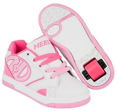 Heelys Propel 2.0 White/Hot Pink/Light Pink Boys Girls Roller Skate shoes 770605