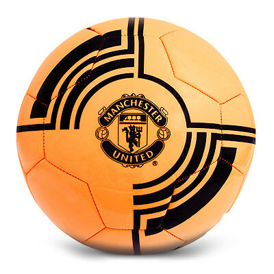 Manchester United FC Official Gift Fluorescent Size 5 Crest Football