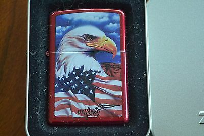 ZIPPO Lighter, 24082 - Mazzi, Freedom Watch, Candy-Apple-Red, 2007, Sealed M1213