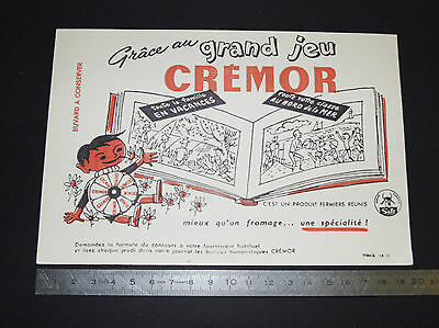 Buvard 1950 Fromage Cremor Fermiers Reunis Safr