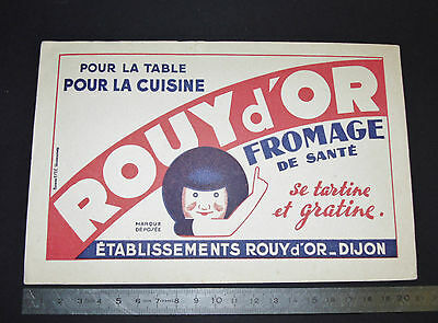 Buvard 1950 Fromage Rouy D'or Dijon