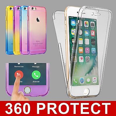 Shockproof 360° Silicone Clear Case Cover For iPhone 11 Pro Max XS XR 6 7 8 Plus