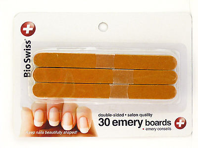 Bioswiss Double-Sided Salon Quality Emery Boards - 30 Ct. (00738)