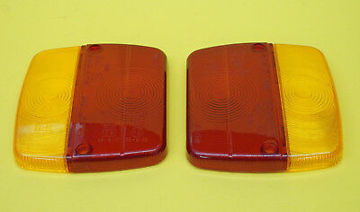 FREE UK Post - 2 x AJBA Replacement Lens 4 W Rear Trailer Light FP11 Daxara
