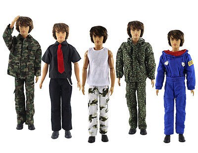 5 Sets Fashion Outfits/Clothes/Uniform For 12 inch Ken Doll