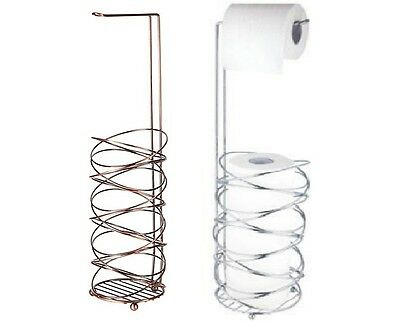 Bird's Nest Toilet Roll Paper Holder 3 Roll Storage Free Standing Bathroom Lou
