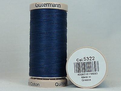 Gütermann Hand Quilting No. 5322 Thread Hand Quilting Embroidery 200m | BLUE
