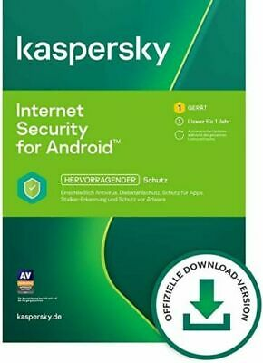 Kaspersky Internet Security Android 2019 1 Gerät 1 Jahr Handy Tablet Mobile