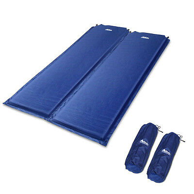 Weisshorn Self Inflating Mattress Sleeping Mat Air Bed Camping Hiking Joinable
