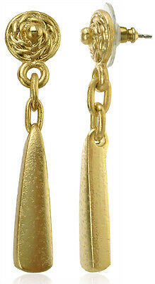 ACROSS THE PUDDLE 24k Gold Plated Pre-Columbian Tairona Beads  Earrings