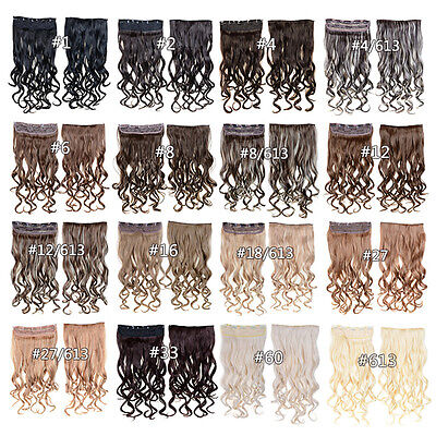 100g One Piece Clip in on Straight/Curly Wavy Synthetic Hair Weft Extensions