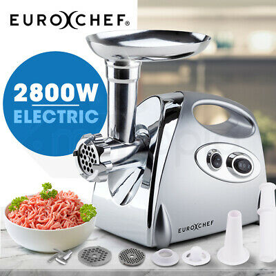 NEW EUROCHEF Meat Grinder Electric Commercial Mincer Sausage Filler Kebbe Maker
