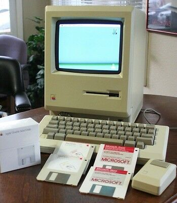 NUMBERS MATCHING First Apple Macintosh Computer M0001 Upgraded Mac Plus Complete