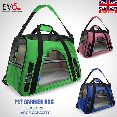 Brand New Pet Carrier Soft Sided Large Cat Dog Comfort Bag Carrier Travel