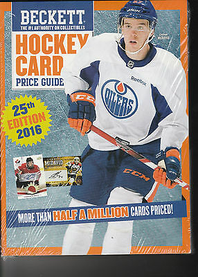 Beckett Hockey Card Price Guide 25Th Edition 1/2 Million Prices 1910 - 2015