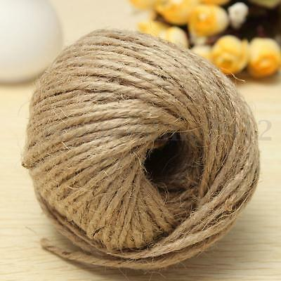 50m 3-Ply Thick Brown Rustic Jute Twine Hessian String Cord Rope DIY Craft Art