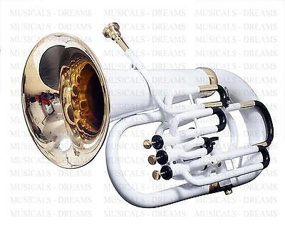 Brand New White Colored + Black Designed Euphonium For Sale Vacations Discount5%