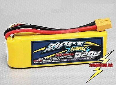 ZIPPY Compact 2200Mah 3s 11.1v 25c - 35c Lipo Pack - UK Seller - Fast Dispatch