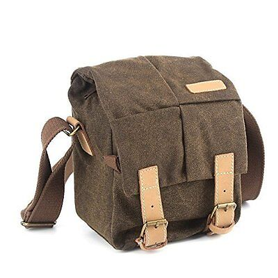 BESTEK Camera Shoulder Bag Canvas Case for Nikon Canon Sony DSLR SLR Waterproof