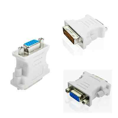 Metal DVI-D 24+1 Male to VGA Female 15pin Connector Adapter Dual Link Convert CA