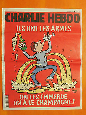 CHARLIE HEBDO N° 1217 du 18/11/2015-Coco-Foolz-Riss-Willem-Catherine-Juin