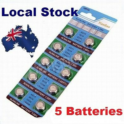 5x Pack LR44 1.5 Volt Alkaline Button Cell Battery AG13 A76 357 303 LR 44 sr44