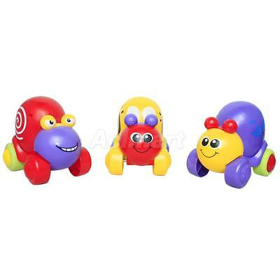 Kids Baby Pull Back Friction Animal Plastic Cartoon Snail Toy Random 1pc