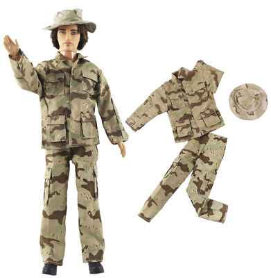 Fashion Outfits/Clothes/Uniform+Hat For 12 inch Ken Doll A02U