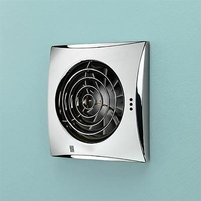 Hib Hush Wall Mounted Fan With Timer Chrome