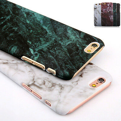 Hard Printed Marble Granite Texture Glossy Case Cover For Apple iPhone X 8 Plus