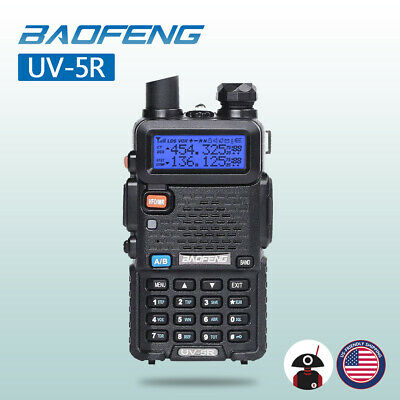 US Baofeng UV-5R VHF UHF Handheld Scanner Analog Walkie Talkie HAM Two-Way Radio