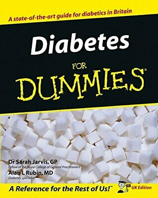 Diabetes for Dummies UK Edition by Alan L. Rubin Paperback Book The Cheap Fast