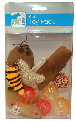 Cat Play Toy Pack - Various Playfull Items For Your Kitty Mouse Etc
