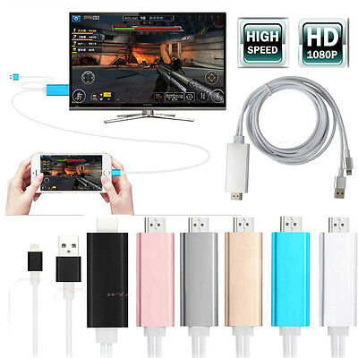8Pin To HDTV HDMI Cable Video TV Digital Adapter for iPhone 5 5s 6 6s Ipad Air 4