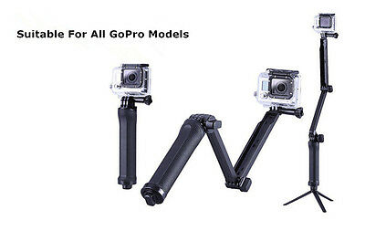 3in1 3-Way Selfie Tripod Monopod Handheld Mount for Sports Camera GoPro Hero 5 4