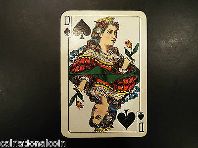 Vintage Queen of Spades playing card