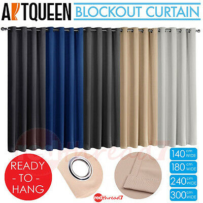 Blockout Eyelet Ready To Hang Curtains Blackout Room 3 Pass Eco Fabric Curtain