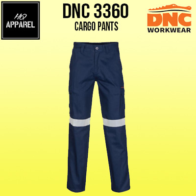 Cargo Pants Middle Weight Cotton Workwear Tradie With Crs Reflective Tape 3360