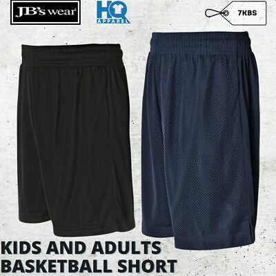 Kids Basketball Shorts Children Team Activity School Sports Uniform Size 6-14
