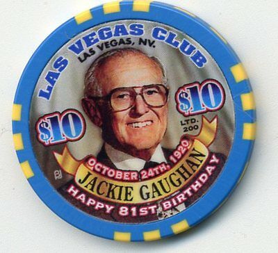 Las Vegas Club $10 Jackie Gaughan  Casino Chip