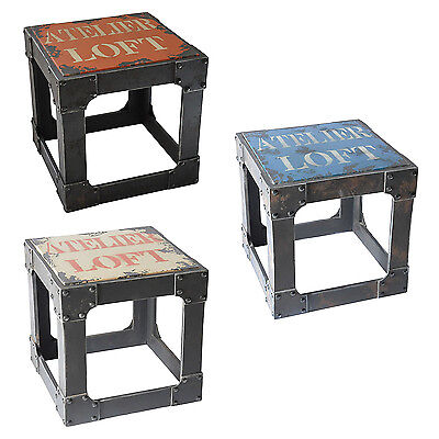 NEW Quirky Substation Square Stools in MDF, assorted colours available