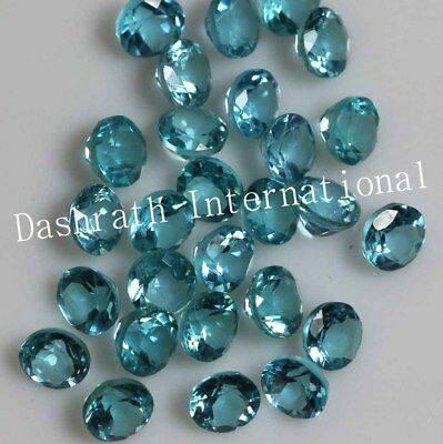 1mm - 5mm Faceted Cut Round Natural Apatite Blue Color Loose Gemstone